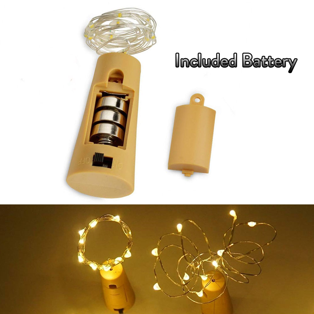 10 20 30 LED Wine Bottle Lights Cork Battery Powered Garland DIY Christmas String Lights For Party Holiday Wedding Decoracion