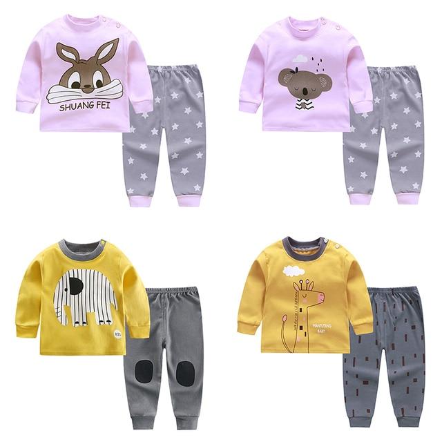 pyjamas kids cotton toddler cartoon children pajamas sets for baby girls boys long sleeve autumn sleepwear pyjama chiristmas