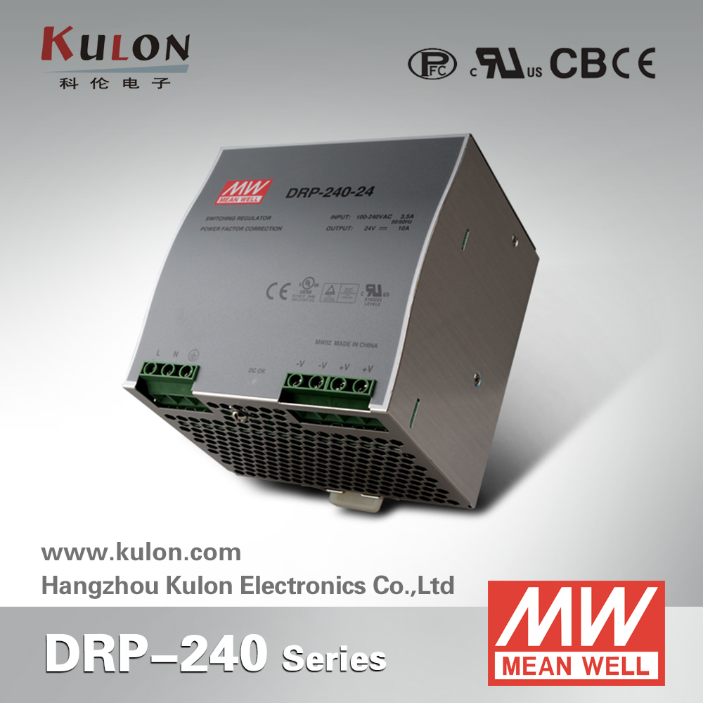 Original Meanwell DRP-240-24 240W 24V 10A Single Output Industrial DIN Rail Power Supply [sumger2] mean well original drp 240 24 24v 10a meanwell drp 240 24v 240w single output industrial din rail power supply