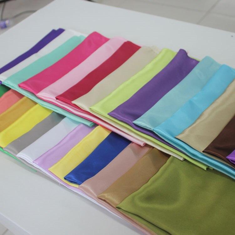 Dearest 20 pcs 50cm Square Satin Napkins Solid Handkerchief for Wedding Party Hotel Restaurant Table Decors