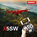 100% Original SYMA X5C X5SW FPV Drone con Cámara Original de Actualización x5sw HD de 2.0MP WIFI dron 2.4G 6-Axis RC drones Envío Gratis
