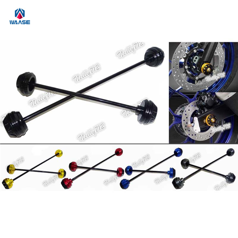 Motorcycle Front & Rear Wheel Fork Axle Sliders Cap Crash Protector For Yamaha T-MAX TMAX 530 XP530 2012 2013 2014 2015 2016