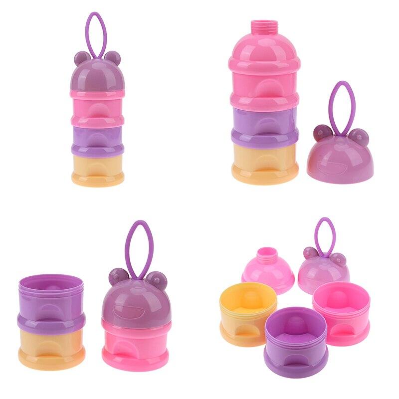 3 Layers Baby Milk Powder Dispenser Container Storage Feeding Bottle Box P6