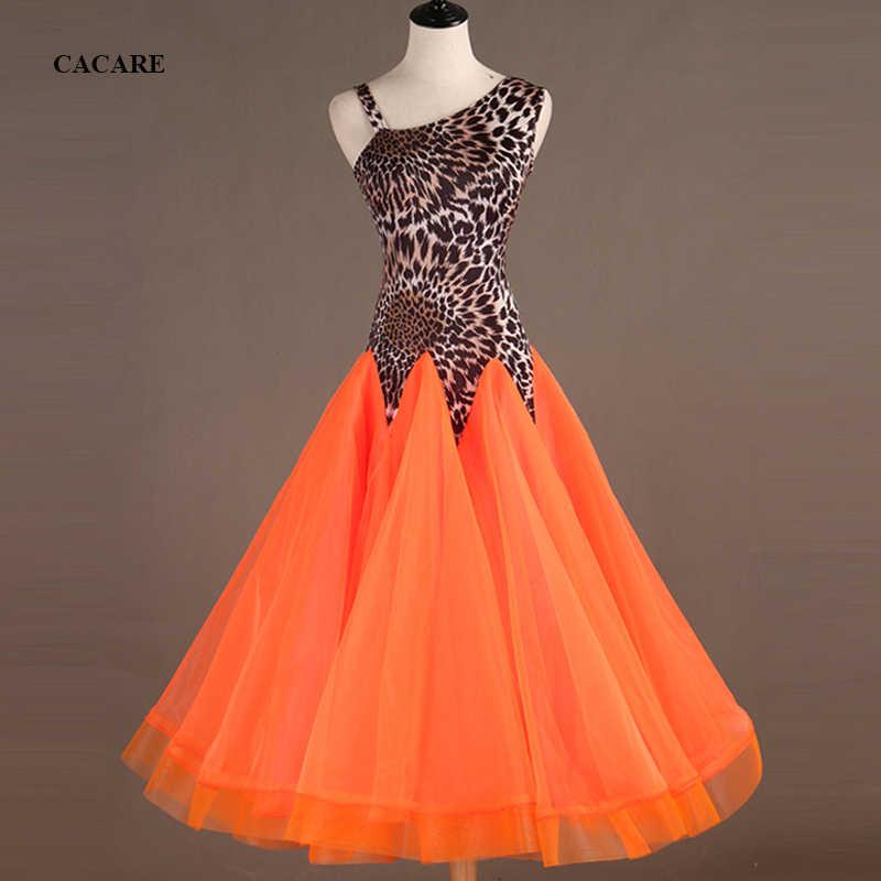 CACARE Вальс платье костюмы для бальных танцев конкурс платья женщин стандартные танцевальные платья настроить D0567 с длинным рукавом стразы