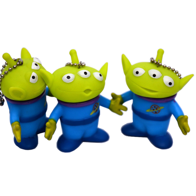 3pcs/set Toy Story Aliens Figure Toys Keychain Alien
