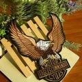 Gran águila bordado badge Decal parche de reparación vaquero Harley Ding hierro en parches applique scrapbooking goma del paño de planchar