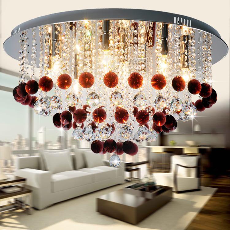 Wine red crystal ceiling light ceiling light sl8096