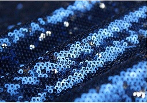 Tissu à paillettes noires, tissu de Costume, tissu à paillettes de luxe de 5 mètres