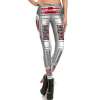 1705 Fitness Elastic Women Leggings Sexy Girl Polyester Slim Fit Workout Pants Trousers Star Wars Red