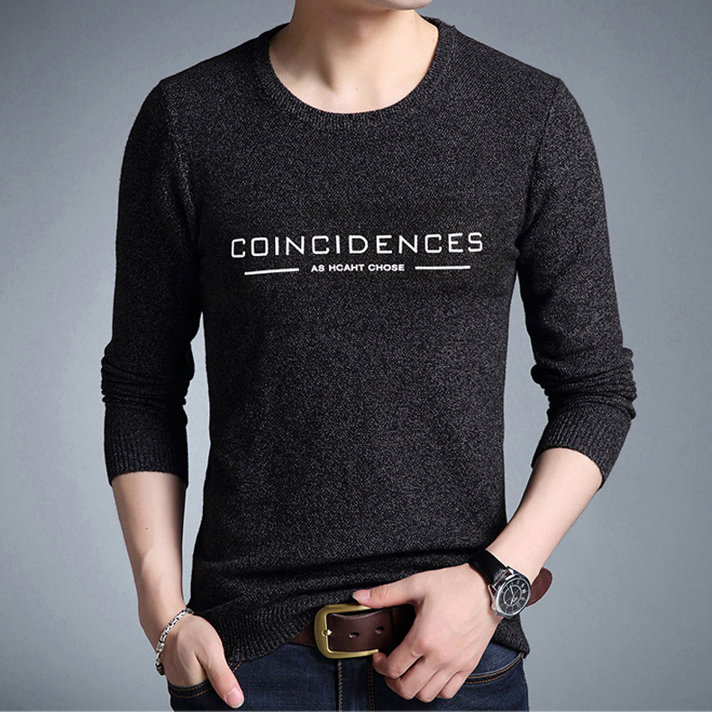 Mwxsd Brand 2019 fashion pullover sweaters Simple style O neck sweater jumpers Autumn Thin male knitwear Plus M-4XL 3