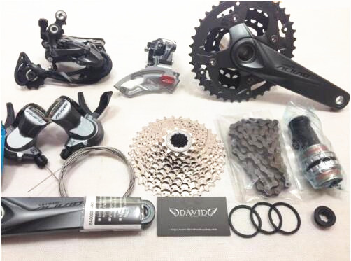 SHIMANO ALIVIO M4000 M4050 T4060 3x9S 27S speed MTB Bicycle groupset with hydraulic disc brake integrated FC-M4050 FC-T4060 калипер shimano m4050 гидравлический post mount без адаптера ebrm4050mpr