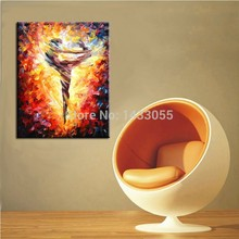 handpainted large sexy hot dancer knife canvas oil painting spanish dancing nude girl on art for living room