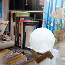 Night Light 3D Print Moon Lamp USB LED Moon light Gift Touch Sensor Color Changing Night Lamp Home Decoraton 8-20cm Diameter