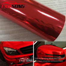 The newest High stretchable Waterproof UV Protected red Chrome Mirror Vinyl Wrap Sheet Roll Film Car Sticker Decal Sheet