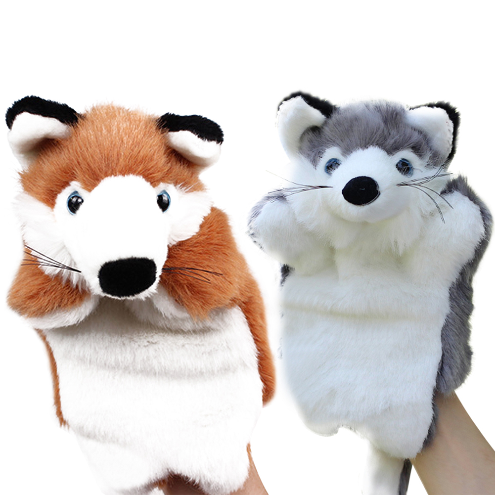 Story Telling Fox Hand Puppet Baby Kids Doll Plush Toys Educational Fox Hand Puppet for Baby Children Role Play Gift FCI# ...