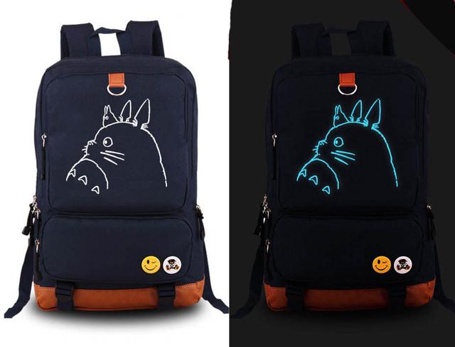 Cute Totoro Luminous Backpack (2 Colors)