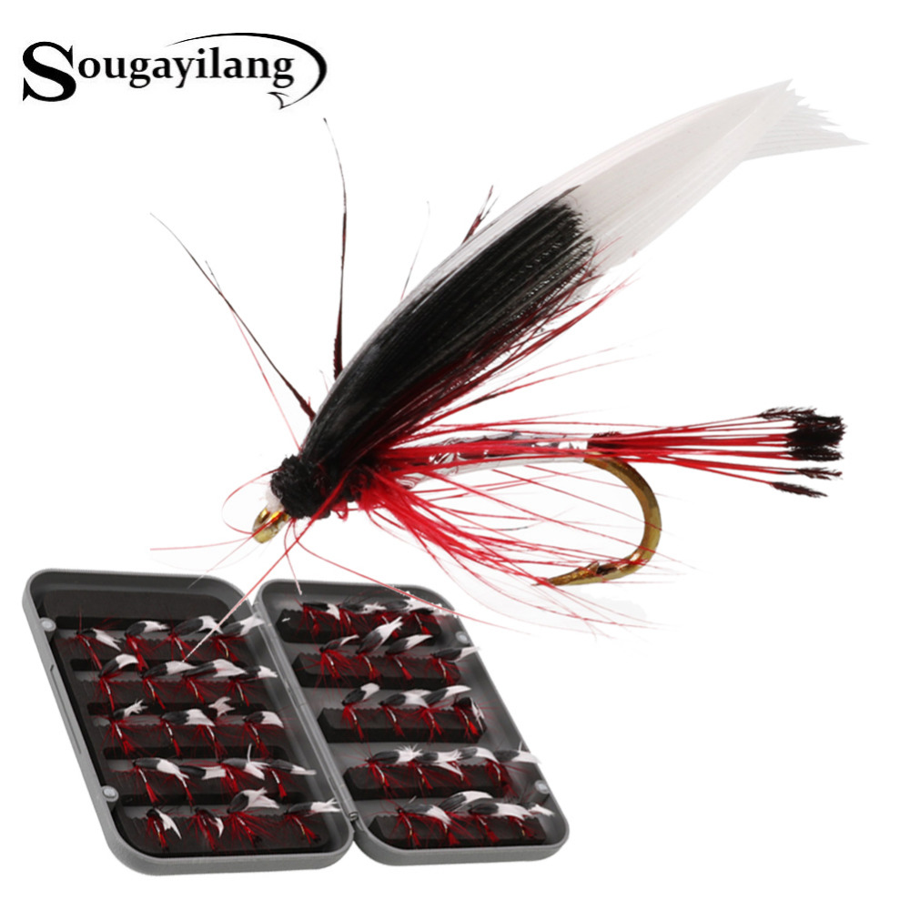 Wholesale Fly Fishing Flies: Sougayilang 40pcs Trout Fly Fishing Nymphs Dry Fly Fishing