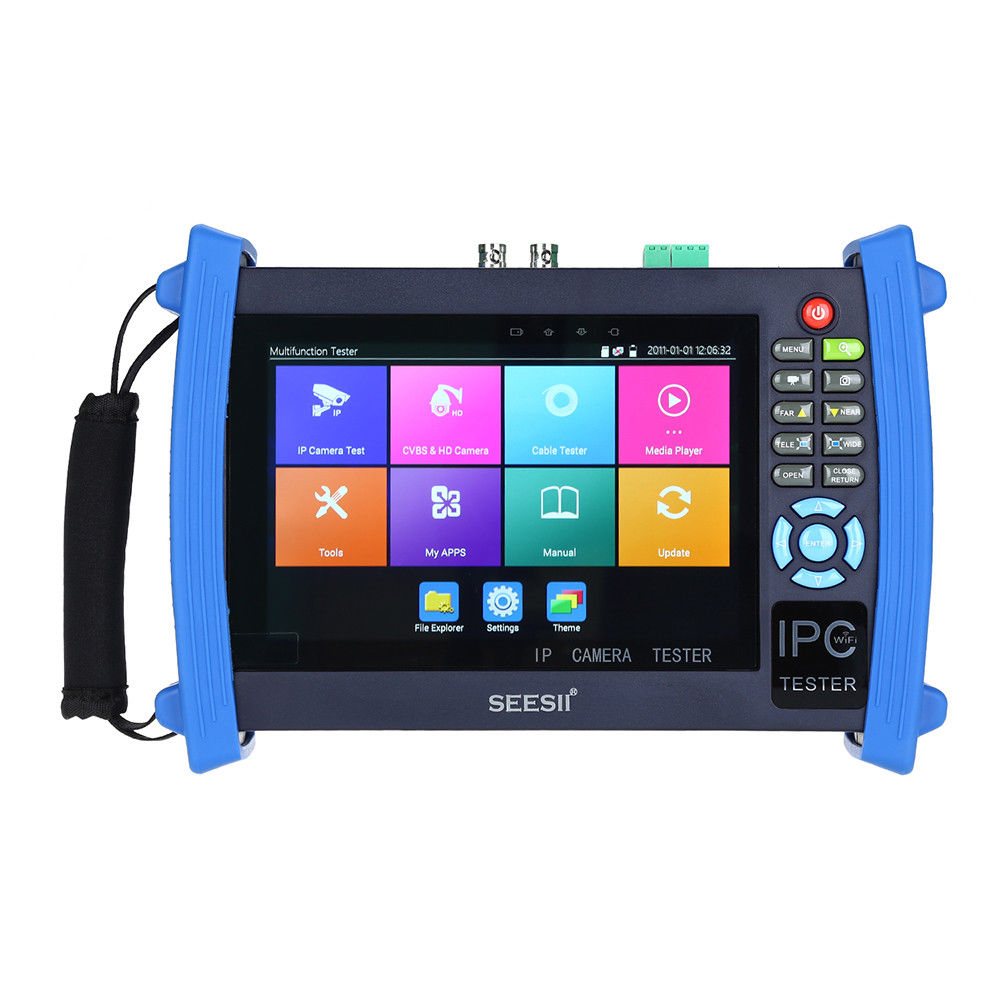 SEESII 8600PLUS 4K 7 quot LCD 1920 1200 IPC CCTV Camera Monitor Tester CVBS Analog Test Touch Screen IP HDMl 8G WIFI H 265 Control in CCTV Monitor amp Display from Security amp Protection