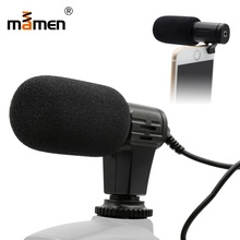 Mamen Microphone Mic 06 Mini Portable 3.5mm Condenser For Smartphone Video Camera Outdoor Interview Mic Microphone With Muff