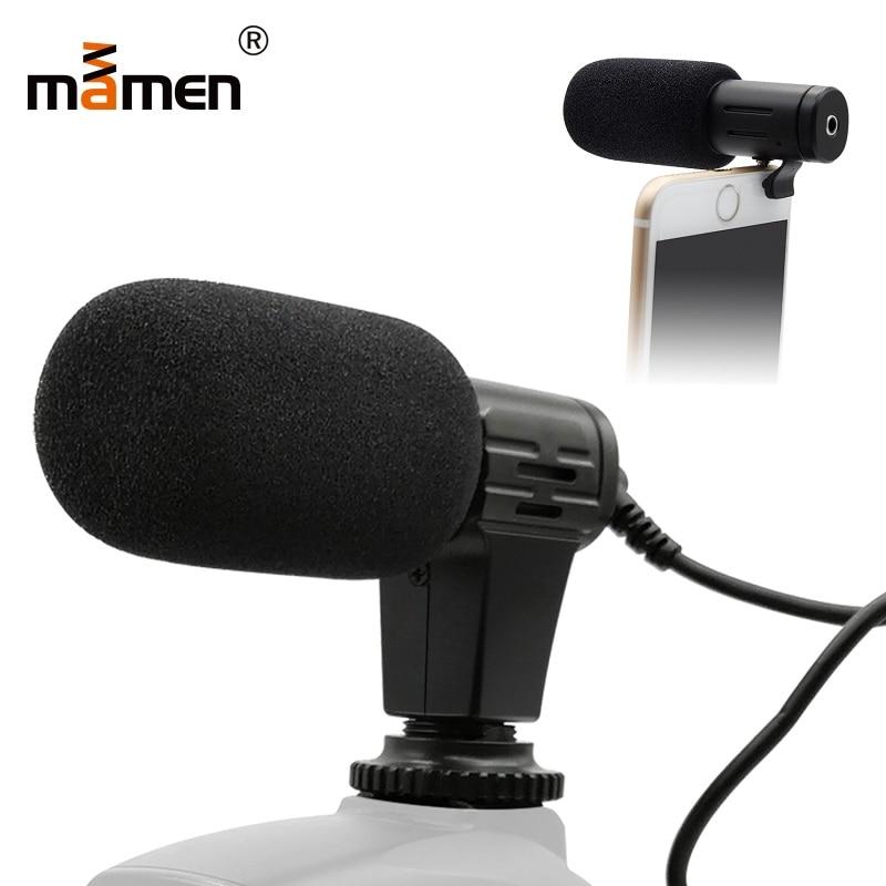 Mamen Microphone Mini Portable 3.5mm Condenseur Pour REFLEX DSLR Smart Vidéo Caméra Extérieure Interview Mic Microphone Avec Manchon