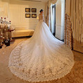 Gorgeous Wedding Dress 2017 Cathedral/Royal Train China Wedding Dress Ball Gown Vestido De Noiva V-neck Vintage Wedding Dress