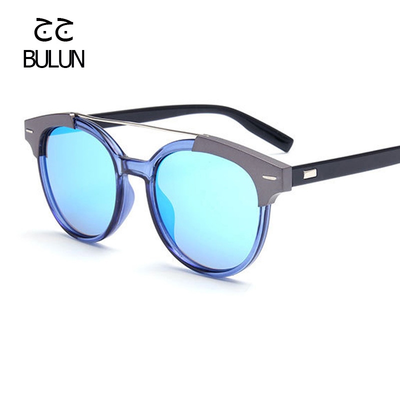 BULUN New Aviator Sunglasses Women Vintage Fashion Mirror Sun Glasses Unique Flat Ladies Sunglasses Shades  UV400 lentes de sol