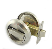 Stainless Steel 304 Cup Handle Recessed Door Locks Cabinet Invisible Pull Handle Fire Proof Set Disk