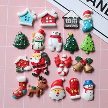 1 Pcs Mixed Resin Christmas Series Crafts Flatback Cabochon Scrapbooking Decorations Fit Hair Clips Embellishments Beads Diy(China)