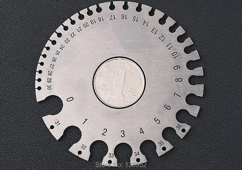 0 36 Round Wire Gauge 2MM Weld Diameter Gauge Welding Inspection ...