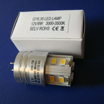 High quality 12V 6W GY6.35 led bulb,LED GY6.35 12VAC/DC,GY6.35 led free shipping 50pcs/lot