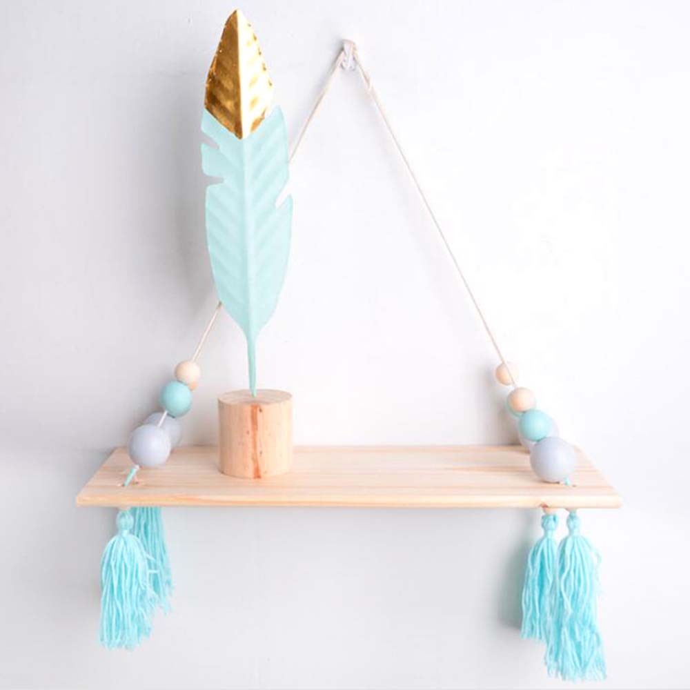Room Decoration Nordic Home Wall Hanging Wooden beads hemp rope tassel Wall Pendant ornaments Cute girlish style