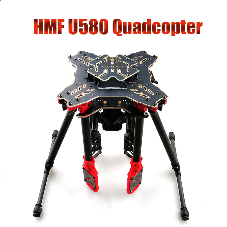 HMF U580 Totem Series RC Quadcopter Frame 4 Axle Foldable Rack Carbon Umbrella FPV Landing Gear Gimbal Mount Tube F11066 500mm pcb board with landing gear for fpv quad s500 pcb quadcopter multicopter frame kit gopro gimbal f450 rc spare parts