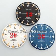 33,5 мм черный/белый/синий циферблат подходит Mingzhu 2813/3804 Miyota 82 серии движения A875