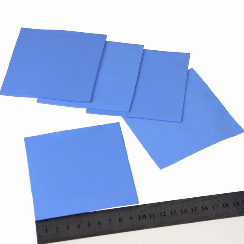 200pcs/set 100X100x2MM Blue Chip Heatsink Conductive Silicone Thermal Pad Chip Heatsink