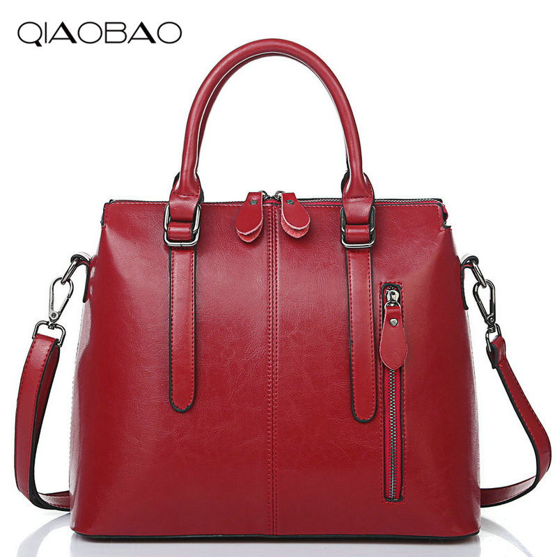 Genuine Leather Bags For Women Famous Brand Shoulder Bags Solid Designer Handbag High Quality Ladies Women Big Female Totes