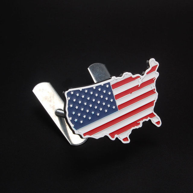 BBQFUKA Metal USA Grille Badge United States American Flag Map - Ford vs chevy us map
