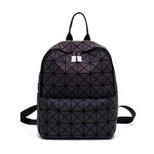 02f8276e1e173 Nowy Bao torba plecaki kobiety geometria Patchwork diament plecak dla  nastoletnich sznurek torba mochila torba szkolna