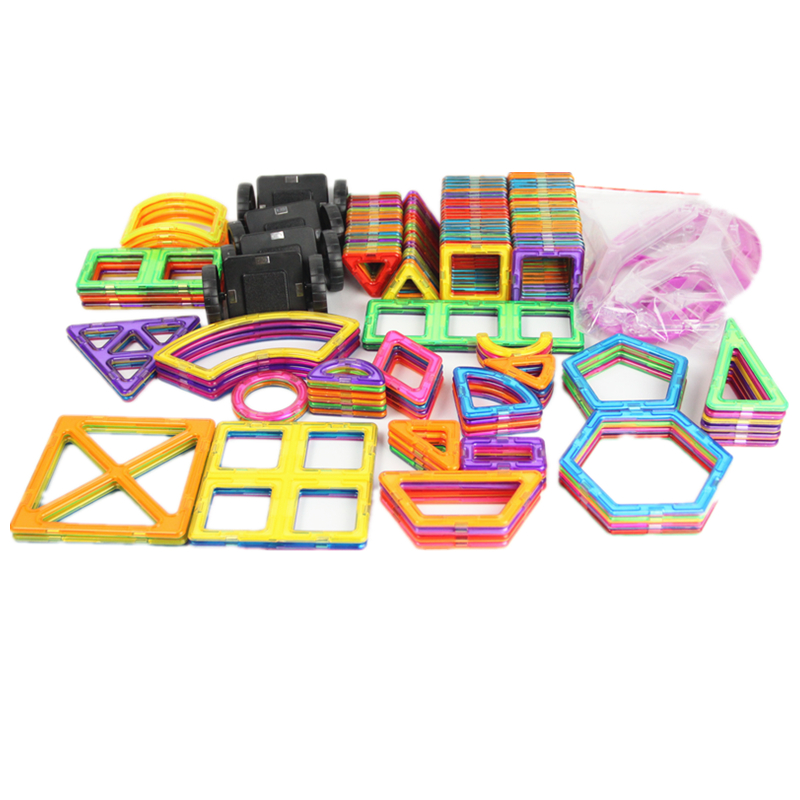 190 Pcs/Set Standard Size Magnetic Building Blocks Brick Designer Educational Toys For Children With Brochures Bags And Gift