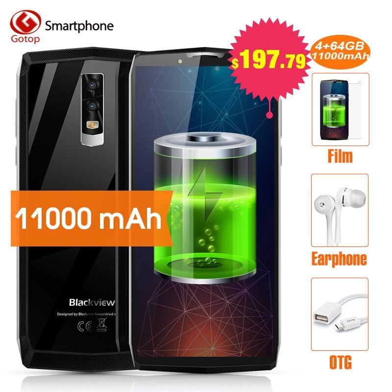Blackview P10000 PRO Smartphone 11000 mah grosse batterie 5 v/5A MT6763 Visage ID 4 gb 64 gb 18:9 5.99 FHD 16MP Android 7.1 Mobile téléphone