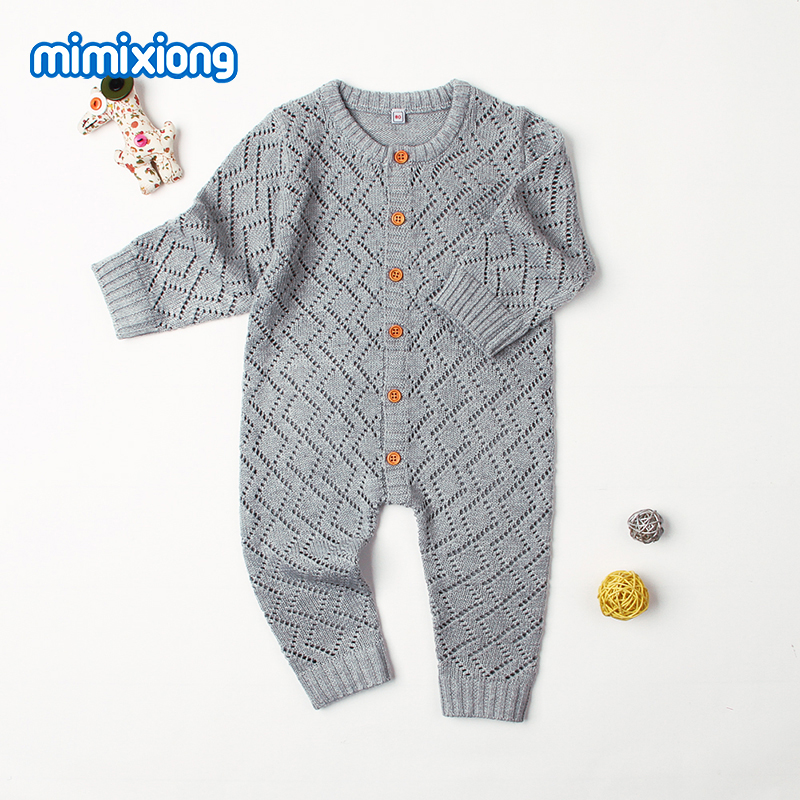 Winter 2018 Baby Rompers Long Sleeve Toddler Girls Overalls Autumn Candy Color Newborn Jumpsuits Infant Boys One Piece Clothing