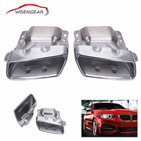 1pair Stainless Steel Car Exhaust Pipes Tail Muffler Tips For Mercedes Benz CLA ML CLASS W164