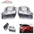 1 par Chrome Tubos de Escape Do Carro Cauda Silenciador Dicas Para Mercedes Benz CLA CLASSE ML W164 W221 A45 CLA45 2013 2014 2015 C/5