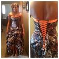 Vintage Lace Up Камуфляж Свадебные Платья Sexy Line Милая Драпированные Привет Низкий 2015 Дешевые Сшитое Формальные Свадебные Платья