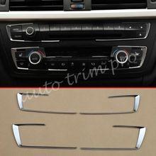 Chrome samochodów Dashboard konsoli pokrywa dekoracji nadające się do BMW F30 F31 F32 F34 F33 F36 akcesoria 3 GT 4 serii części wewnętrzne wykończenia tanie tanio MYMOCCY For BMW F30 6 cm 0 cali w 0 08 kg 2013 2014 2015 2016 2017 603097943788 ISO9001 24cm 13cm Chrom stylizacja 100 NOWE