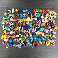 New PVC 144 Styles Pocket Monsters Action Figure Anime Pikachu Mini Model Children Toys Gift Collectibles Cake Decoration