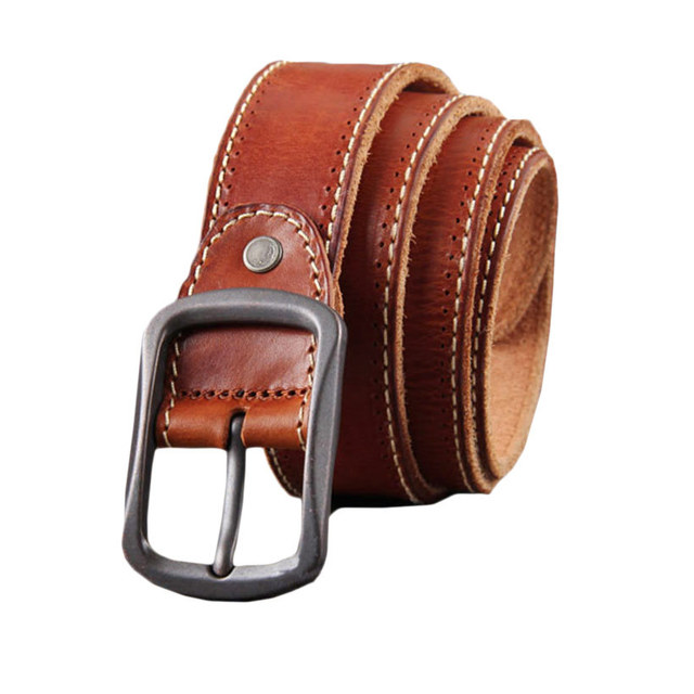 Vintage Leather Belt Men Luxury Brand Business Belts Cool Military Belts  Buckle Black Solid Waist Strap For Men New Arrival-in Belts & Cummerbunds