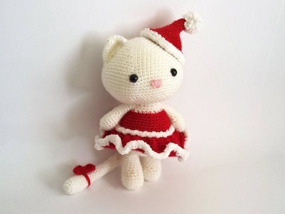 Amigurumi crochet mode chaton
