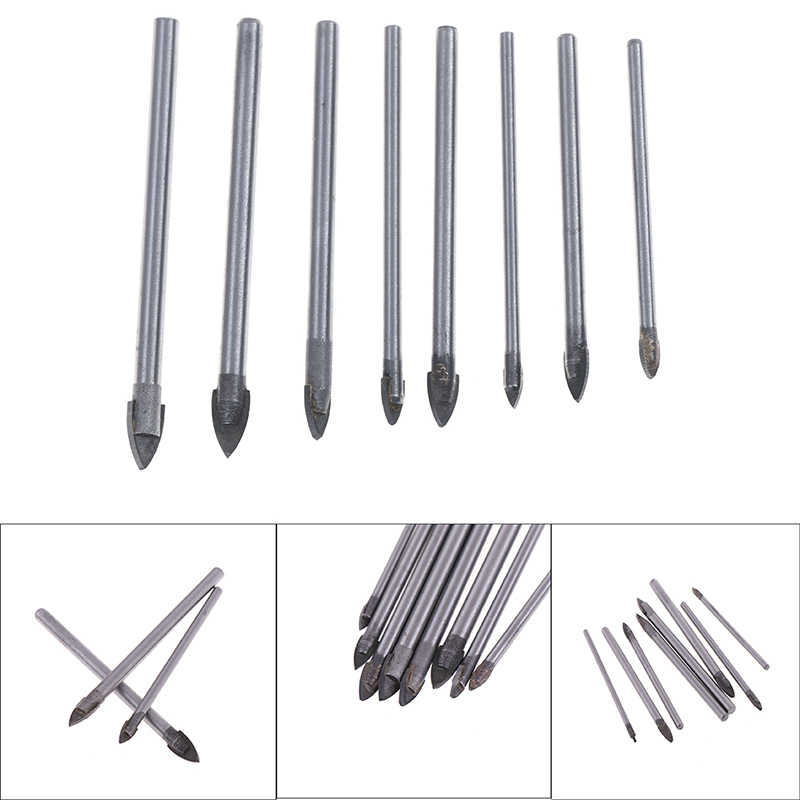 10Pcs 6mm Triangle Spear Point Head Drilling Tool Ceramic Tile Glass Drill Bits