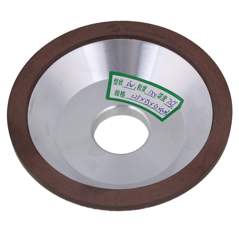 125x35x32X10mm Cup Bowl Shape Silver Diamond Aluminum Resin Grinder Grinding Wheel Cutter Cutting Tool 150# Grit