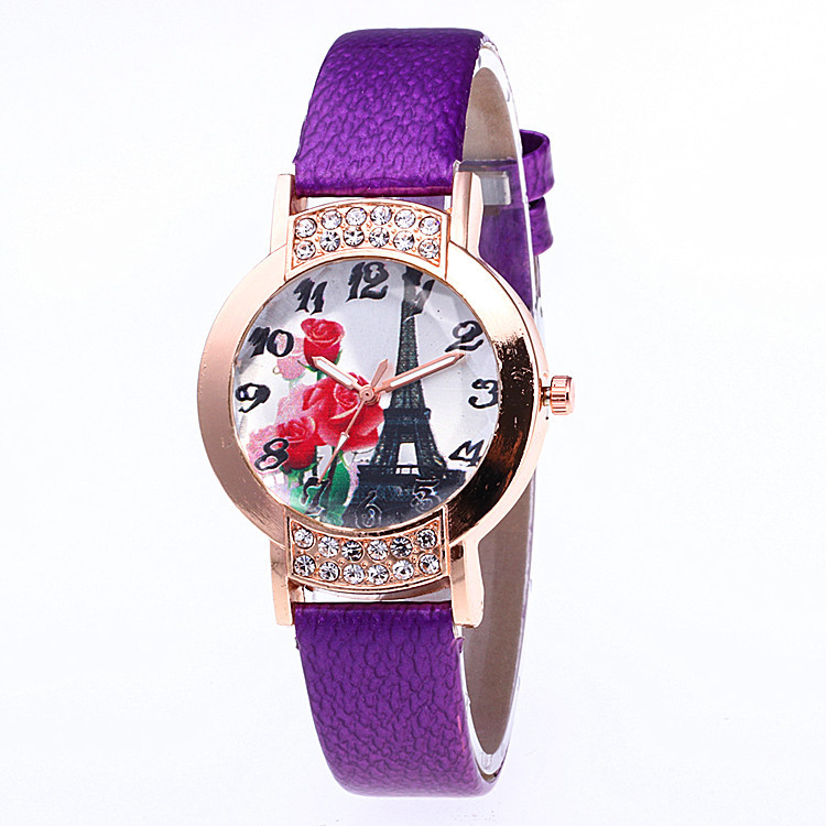 New Fashion Quartz Watch Women Ladies reloj mujer Famous Brand Luxury PU Leather Wristwatch Womens Gift Clock women vintage watch ladies lace printed analog leather quartz watch women 2016 brand luxury famous wristwatch reloj hombre